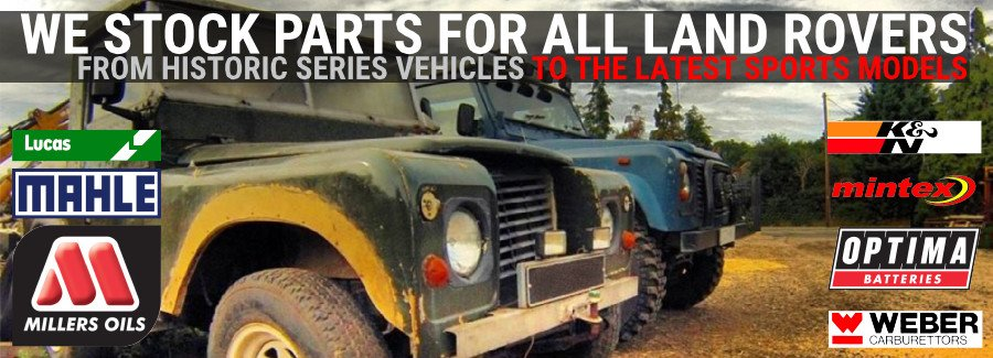 We Sell parts for all Landrovers